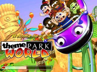 sim theme park game