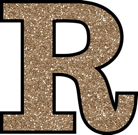 r in letters free glitter alphabet to and print 24185