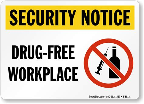 Free Workplace Sign Workplace Policy Sign Sku Security Notice Free Workplace Sign With Graphic