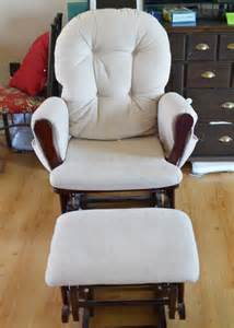 dutailier rocking chair cover update a nursery glider rocking chair the diy