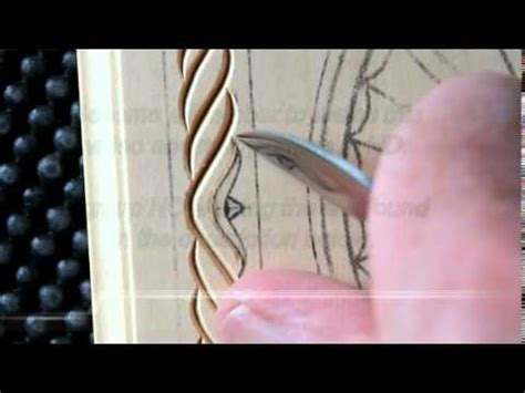 chip carving   carve  rope border youtube