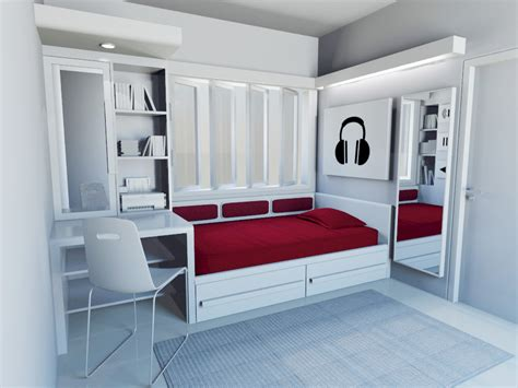 Design Ideas For Single Bedroom by Anton Kurniawan Portofolio Single Bedroom Design