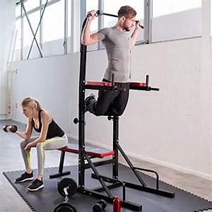 Station De Traction : achat tectake station de musculation multifonction dips ~ Farleysfitness.com Idées de Décoration