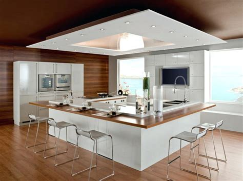 table amovible cuisine ilot central avec table central cuisine co bar cuisine