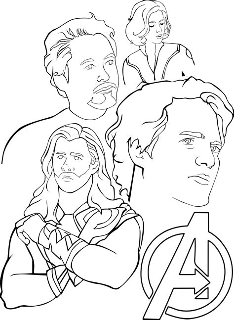 Avengers Coloring Pages Free Printable Avengers Coloring
