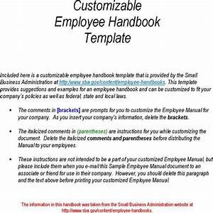 Download Customizable Employee Handbook Template For Free