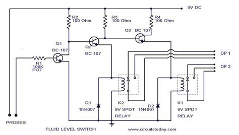 Liquid Fluid Water Float Tank Level Switchcircuit Using