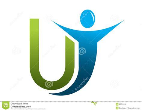 Letter U Logo Man Stock Vector. Illustration Of Child