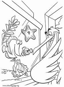 finding nemo coloring pages free - flo finding nemo colouring pages