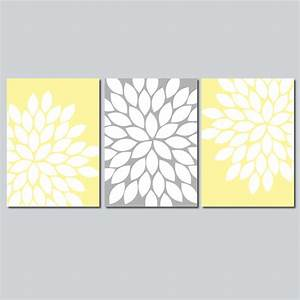 Yellow gray wall art bedroom from trm design