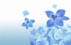 Moons Flower: Blue Flower Wallpaper