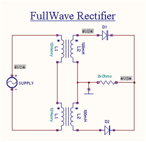 Circuit Diagram Of Single Phase Full Wave Rectifier
