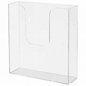 mygift freestanding wall mounted clear acrylic document With clear plastic wall mounted document holder
