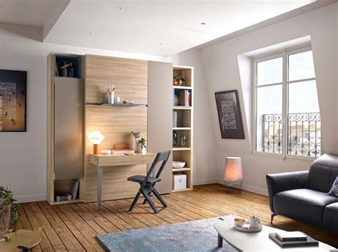 bureau de lit lit escamotable armoire des meubles gautier déco mlc