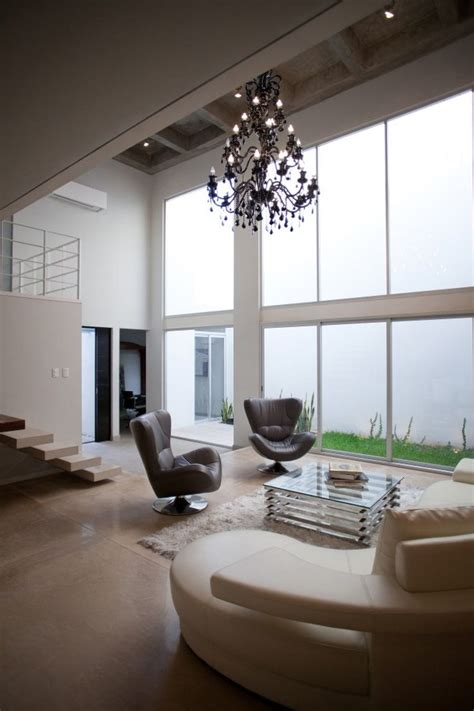 interior courtyard high ceiling shape clever cancun house