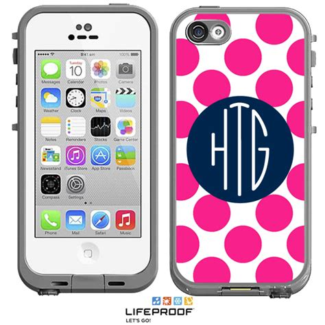 iphone 5c cases lifeproof dots monogrammed lifeproof 174 frē iphone 5c