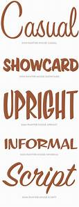 house industries sign painter specimen casual showcard With house lettering script