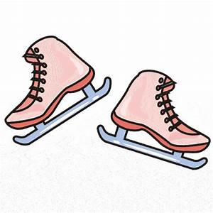 Pair of Ice Skates Clipart (16+)