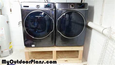 diy washer drier pedestal myoutdoorplans