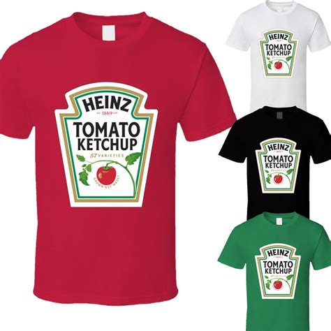 Heinz Tomato Ketchup T Shirt Red Cotton Bottle Logo Funny ...