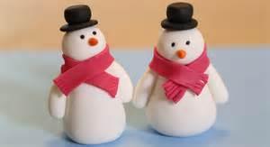 fabriquer pate a sucre decoration de noel bonhomme de neige