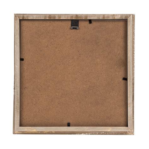 washed wood deep box frame