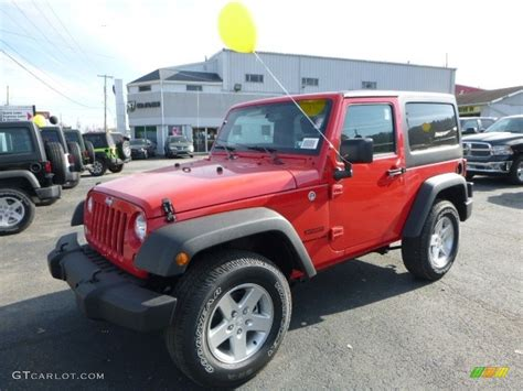 red jeep 2016 2016 firecracker red jeep wrangler sport 117016421