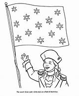 Congress Continental Drawing Coloring Flag Usa Template Holidays Printables sketch template