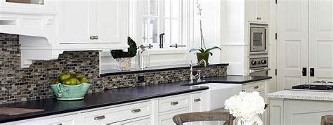 kitchen backsplash ideas for white cabinets black countertops black granite white cabinet glass tile idea backsplash 9860