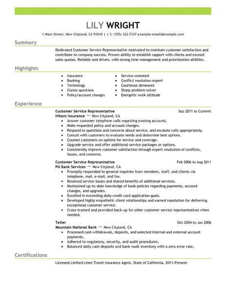 customer service cv 15 amazing customer service resume examples livecareer