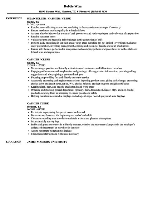 Cashier Description For Resume by Descargar Pdf Ebook Resume For Cashier Clerk