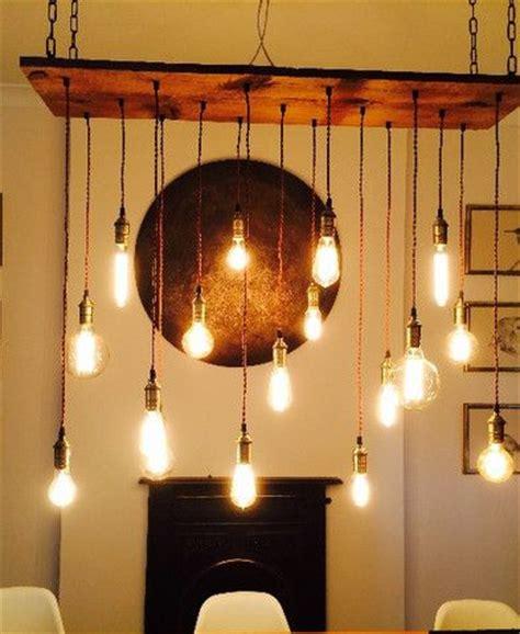 reclaimed wood chandelier  pendants customizable
