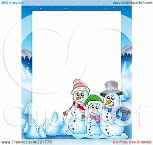 Snowman Clipart Border – 101 Clip Art