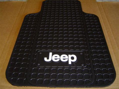 Tj Floor Mats - jeep logo front floor mats in black pair cj yj tj lj