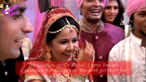 On Location Of Tv Serial Sapne Suhane Ladakpan Ke Gunjan