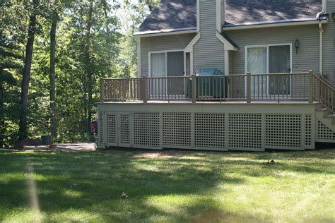 what to use to enclose the area your deck