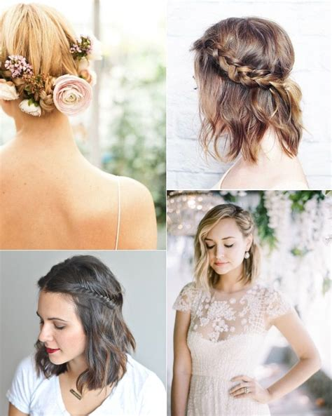 braided hairstyles for brides with short hair hair