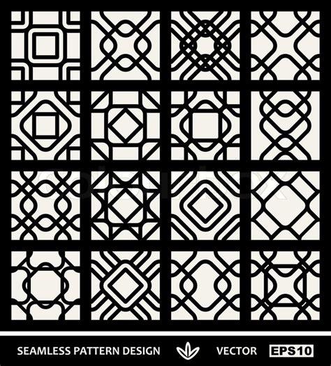 printable geometric shape ornaments abstract modern backgrounds set geometric seamless