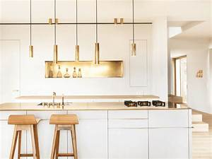 kitchen color ideas freshome With best brand of paint for kitchen cabinets with gold and silver wall art