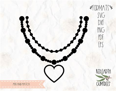 necklace bundle pearls necklace beads mardi gras  svg eps  dxf png formats cricut