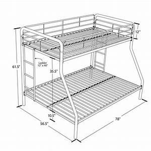 Lit Superposé Double : lit superpos en m tal lit jumeau au dessus lit double de ~ Premium-room.com Idées de Décoration