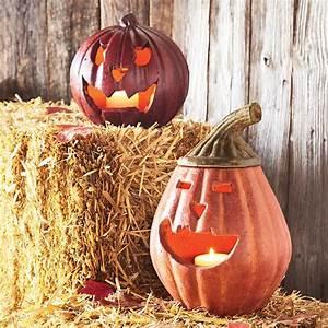 Terra Cotta Pumpkin Lanterns - The Green Head