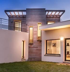 maison bois toit terrasse contemporain facade paris With maison bois toit terrasse