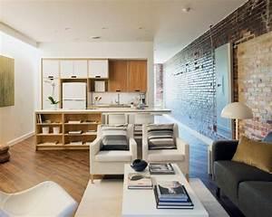 Wohnzimmer Mit Küche Ideen : funktionelles wohnzimmer design in die tat umsetzen ~ Markanthonyermac.com Haus und Dekorationen