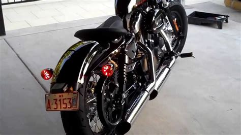 Sportster 48 With Mustang Cyclone Solo Seat And Se Tuner