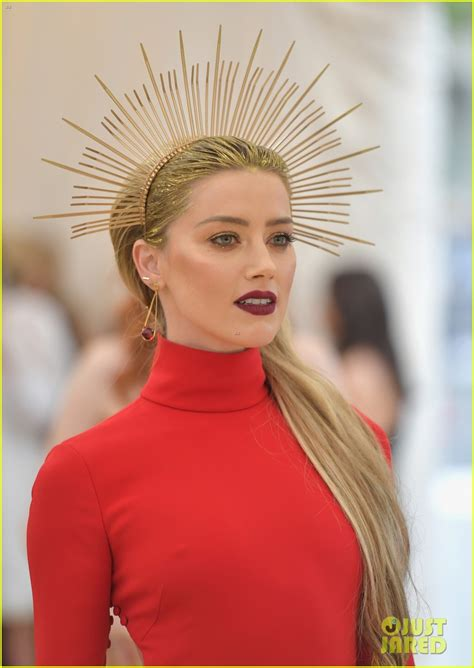 Amber Heard Is Radiant In Red At Met Gala 2018! Photo