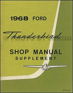 1968 Ford Thunderbird Wiring Diagram Manual Reprint