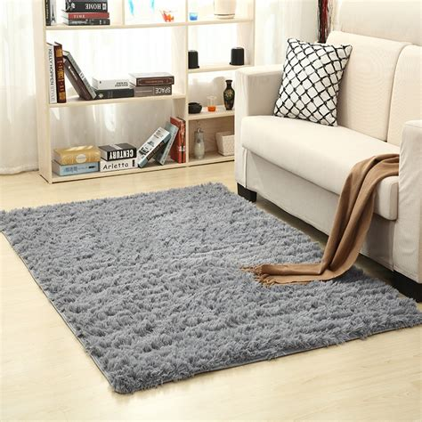 super soft silk wool rug indoor modern shag area rug silky