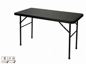 Tischdecken Für Lange Tische : klapptisch im rattan look robust wetterfest 120cm lang garten camping tische ebay ~ Buech-reservation.com Haus und Dekorationen
