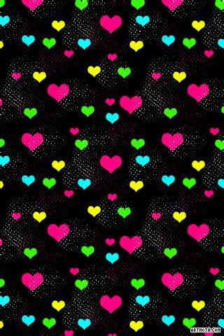 ❤ get the best hearts wallpaper on wallpaperset. Neon Colorful Hearts iPhone Wallpaper   Duvar kağıtları